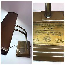 Railroad Signalmen Desk Lamp Brotherhood of Railroad Vintage Lamp Fluorescent