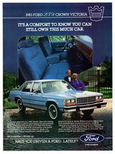 1983 FORD LTD Crown Victoria Vintage Original Print AD - Blue car interior photo