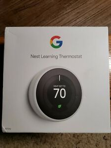 Google Nest Learning Smart Thermostat (3rd Generation, White) T3017US
