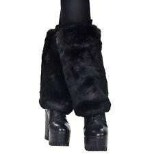 New Loose Black Leg Warmer Womens Fashion Faux Fur Winter Legging Socks