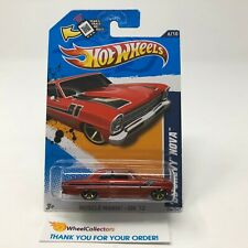 '66 Chevy Nova #106 * RED * 2012 Hot Wheels * G31