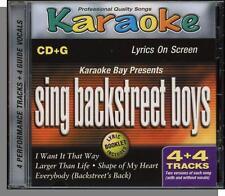 Karaoke CD+G - Sing Backstreet Boys - New 2002, 4 song CD! Shape Of My Heart