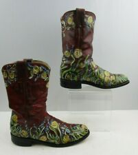 Ladies Justin Leather Roper Western Boots Size : 6.5 B
