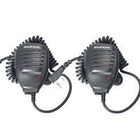 2PCS Baofeng Microphone PTT Speaker Mic For Kenwood BAOFENG UV-5R 5R+ TYT WOUXUN