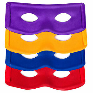 Ninja Style Mask Super Hero Turtle Fancy Dress Cosplay Kids Birthday Party x 4