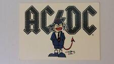 AC DC AC/DC 2004 Angus Young rock hardrock music postcard POST CARD