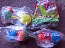 Lot Of 4 M&M's Candy Burger King Toys Figures Collectibles new sealed