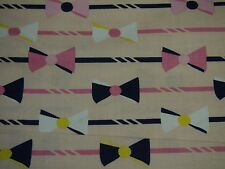 Derby Pink Bows by Riley Blake RBC4420PINK Fabric FQ or More 100% Cotton