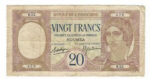 New Caledonia  - 20 Francs, 1926