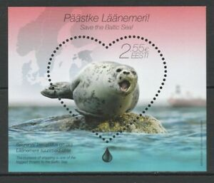 Estonia 2015 Fauna Animals Marine Life MNH Block