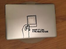 Mac Book Sticker Decals Vinyl Shake It Like A Polaroid Picture UK SELLER Apple