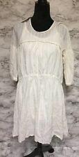 Zara Girl's Size 11-12 White Lace Detailed Dress