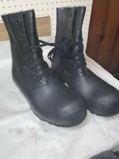 Hood Us Boots Mens Militarty Weather  Size 12 Regular Rubber Plastic Waterproof