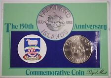 1983 Falkland Islands 50 Pence Uncirculated Commemorative 150th Anniversary Coin