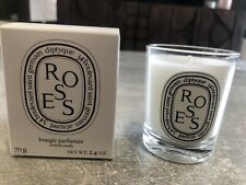 Diptyque 70g 2.4oz Roses Candle. Rose Scented Fragranced Candle Band New In Box