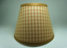 Country Primitive Honey Brown Plaid Homespun Fabric Lampshade Lamp Shade