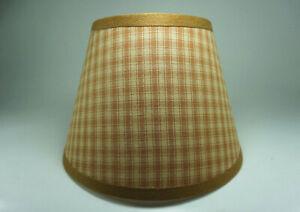 Country Primitive Honey Brown Plaid Homespun Fabric Lampshade Lamp Shade