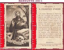 2860 SANTINO HOLY CARD S. SANCTUS FRANCISCUS ASSISIENSIS FRANCESCO ASSISI FB 318