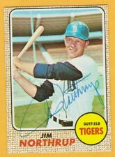 Autographed Jim Northrup 1968 TOPPS # 78