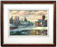 Fritz Geyer: Breslau. Kunstdruck gerahmt