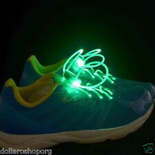 Paio di Lacci LED Scarpe Luminosi Stringhe FLASH LIGHT SHOES Color VERDE scarpa