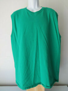Men's GREEN FRUIT OF THE LOOM 2XL XXL TANK TOP sleeveless