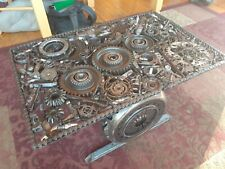 Parts Coffee Table automotive engine industrial man cave
