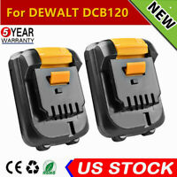 2x For DEWALT 12VOLT MAX LITHIUM ION DCB120 DCB127 DCB121 12V BATTERY PACK 2.0AH