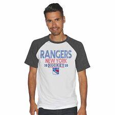 NHL Men's New York Rangers Color Block White Short Sleeve T-Shirt Top Sz L NWT