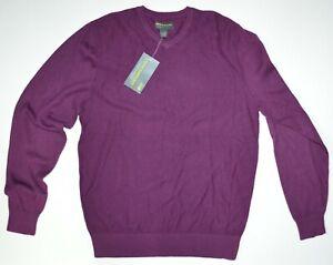 John Bartlett • Men's V-Neck PURPLE Sweater • Size S • NEW NWT