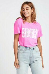 Billabong I'm a Rebel pink tshirt Size Small