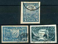 UDSSR/Rußland, Mi.-Nr.153/155o + (150o mit kl Fehlern)