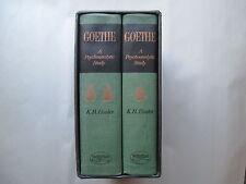 GOETHE a Psychoanalytic Study BY K. R. EISSLER 2 Book Set WAYNE STATE UNIVERSITY