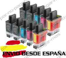 10 CARTUCHOS COMPATIBLES NonOem BROTHER LC900 MFC-620CN MFC620CN