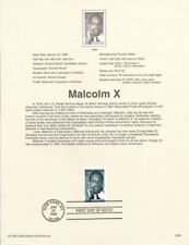 #9902 33c Malcolm X Stamp #3273  - Souvenir Page