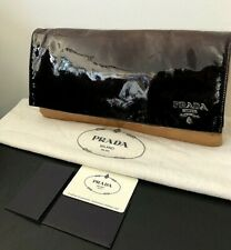 Authentic PRADA OMBRÉ PATENT LAMB LEATHER CLUTCH bag RRP $1250 AU