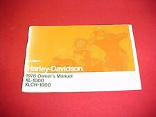 1978 HARLEY DAVIDSON XL XLCH 1000 OWNERS MANUAL SERVICE GUIDE BOOK 78 + WIRING