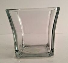 Anchor Hocking Clear Square Flare Votive Glass