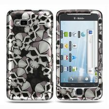 Black Skulls Hard Case Cover T-Mobile HTC Vanguard G2