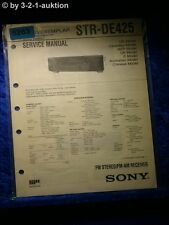 Sony Service Manual STR DE425 FM/AM Receiver (#5263)