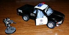 Kinsmart Dodge Ram Police Pickup Truck Black Mint 1:44 25mm 28mm 30mm
