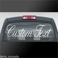 Custom Text Sticker Personalised Lettering Name Car Van Windscreen Vinyl Decal