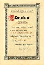 Zeche Freudenberg hist. Kuxschein 1905 Siegerland Erzbergbau Siegen Blei + Zink