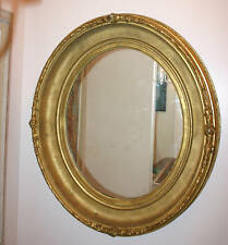 18th Century Italian Hand Carved Wooden Oval Mirror   MAGNIFICENT