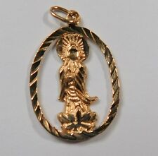 14k Rose Gold Mary Mother of God Charm           Lot 2109