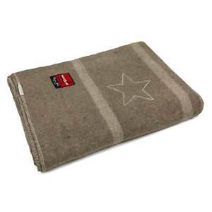 Italian Reproduction Officers Wool Blanket w/Star - 80% Wool - Swiss Link