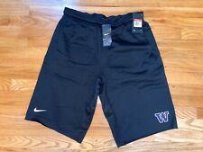 Washington Huskies Nike Mens Black Therma-Fit Football Shorts Large L NEW