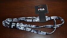 Fila Sport Headband Gray & Black Headband One Size Fits Most Adults