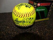 Chicago Bandits Jennie Finch Vicky Galindo + Selena Collins Autographed Softball