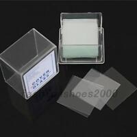100Stk. Deckgläser 22 x 22mm Für Objektträger Mikroskop Glas Labor Zubehör